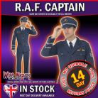 FANCY DRESS COSTUME # MENS 1940s WW2 RAF PILOT AIR FORCE CAPTAIN LARGE